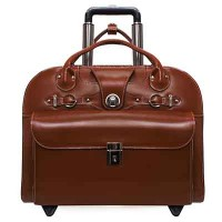 "Edgebrook 15.4"" Leather Wheeled Ladies' Laptop Briefcase"