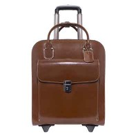 "Uptown 15.4"" Leather Vertical Wheeled Ladies' Laptop Briefcase"
