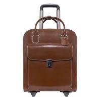 "Uptown 15.4"" Leather Vertical Wheeled Ladies' Laptop Briefcase"