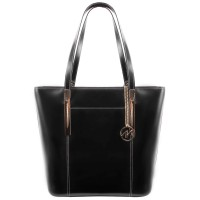 Deva Leather Ladies' Tote with Tablet Pocket