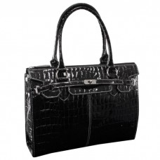 "Francesca 14.1""Faux Patent Croco Leather Ladies' Business Tote"