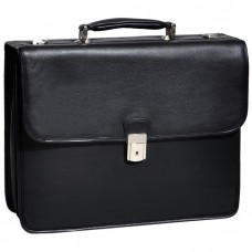 "Ashburn 15.4"" Leather Double Compartment Laptop Briefcase"