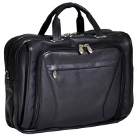 "Irving Park 15.6"" Leather Double Compartment Laptop Briefcase"