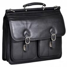 """Hazel Crest 15.6"""" Leather Double Compartment Laptop Case"""