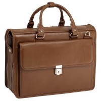 "Gresham 15.6"" Leather Litigator Laptop Briefcase"