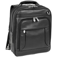 "Lincoln Park 15.6"" Leather Three-way Backpack Laptop Briefcase"