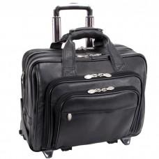 """Gold Coast 17"""" Leather Detachable-Wheeled Laptop Case"""