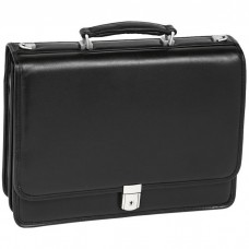 "Bucktown 15.6"" Leather Double Compartment Laptop Briefcase"