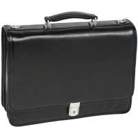 "River North 15.4"" Leather Triple Compartment Laptop Briefcase"