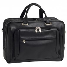 "West Loop 15.6"" Leather Expandable Double Compartment Briefcase"