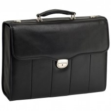 "North Park 15.4"" Leather Executive Laptop Briefcase"