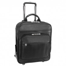 "Wicker Park 15.6"" Leather Detachable-Wheeled Three-Way Computer Backpack Brief"