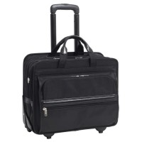"Franklin 17"" Nylon Detachable-Wheeled Laptop Case"