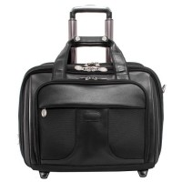 "Chicago 17"" Detachable-Wheeled Laptop Overnight with Removable Brief"