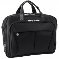"Pearson 17"" Expandable Double Compartment Briefcase"