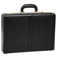 """Reagan Leather 3.5"""" Attache Briefcase"""