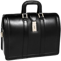 "Morgan 17"" Leather Litigator Laptop Brief"