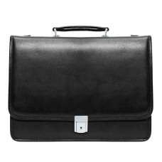 "Lexington 15.6"" Leather Flapover Double Compartment Briefcase"
