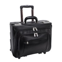"Sheridan 17"" Leather Detachable-Wheeled Catalog Case"