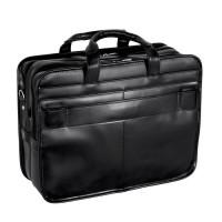 """Elston 15.6"""" Leather Double Compartment Laptop Briefcase"""