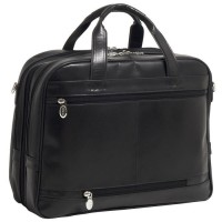 "Springfield 15.6"" Leather Fly-Through™ Checkpoint-Friendly Laptop Briefcase"