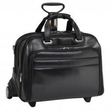"Midway 17"" Leather Fly-Through Checkpoint-Friendly Detachable Wheeled Laptop Case"