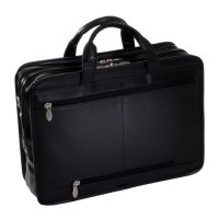 "Hubbard 15.6"" Leather Double Compartments Laptop Briefcase"