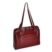 "Glenview 15.4"" Leather Ladies' Laptop Briefcase"