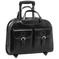 "Davis 15.4"" Leather Wheeled Ladies' Laptop Briefcase"