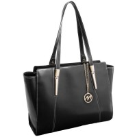 Aldora Leather Ladies Tote with Tablet Pocket