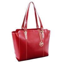 Alicia Leather Ladies Tote with Tablet Pocket